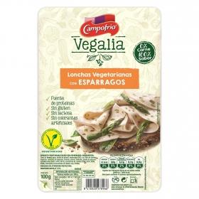 Lonchas vegetarianas con espárragos Campofrío - vegalia sin gluten 100 g.