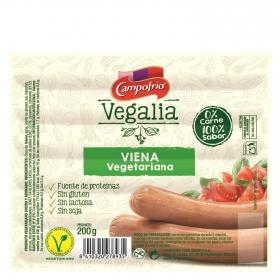 Viena vegetariana Campofrío - vegalia sin gluten y sin lactosa 200 g.