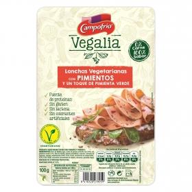 Lonchas vegetarianas con pimientos y un toque de pimienta negra