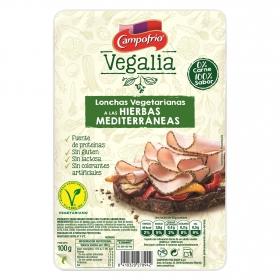Lonchas vegetarianas a las hierbas mediterraneas Campofrío - vegalia 100 g.