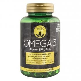Omega 3 rico en EPA y DHA Phytofarma 270 cápsulas.