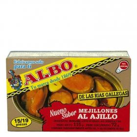 Mejillones 14/19 de las rías gallegas al ajillo Albo 72 g.