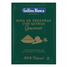 Sopa gourmet de verduras y quinoa