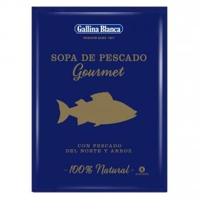 Sopa de pescado norte y arooz gourmet