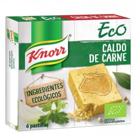 Caldo de carne ecológico Knorr 6 pastillas