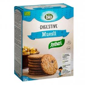 Galletas ecológicas Muesli Digestive Santiveri sin lactosa 330 g.