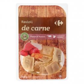 Ravioli de carne al huevo Carrefour 250 g.