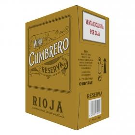 Vino D.O. Rioja  tinto Reserva  Viña Cumbrero pack de 6 botellas de 75 cl.