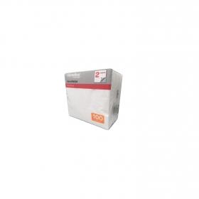 Servilletas blancas 2 capas de celulosa 15x9 cm. Carrefour Home 100 ud.