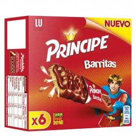 Barritas de chocolate Príncipe 6 unidades de 27 g.