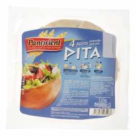 Pan de pita 4 ud. Panorient 320 g.