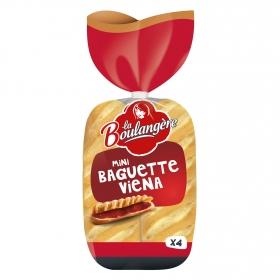 Baguette miniViena 4 ud. La Boulangere 220 g.