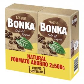 Café molido natural cultivo sostenible Nestlé Bonka pack de 2 unidades de 500 g.