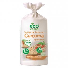 Tortitas de arroz con cúrcuma y pimienta ecológicas Ecocesta sin gluten 115 g.