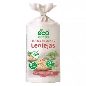 Tortitas de arroz con lentejas bio sin gluten