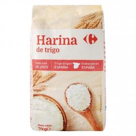 Harina de trigo Carrefour 2 kg.