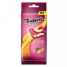 Chicles sabor frambuesa y limón Trident 3 paquetes de 23 g.