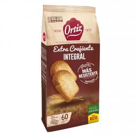 Pan tostado integral extra crujiente Ortiz 300 g