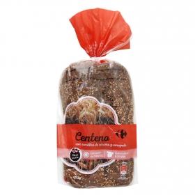 Pan de centeno con semillas de sésamo y amapola Carrefour 450 g.