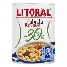 Fabada asturiana 30% menos de sal y grasa Litoral 435 g.