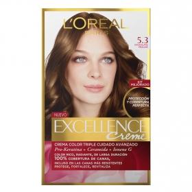 Tinte creme nº 5.3 Chocolate Praliné L'Oréal Excellence 1 ud.