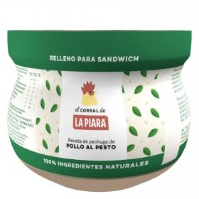 Relleno para sandwich de pollo al pesto