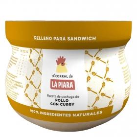 Relleno para sandwich de pollo con curry