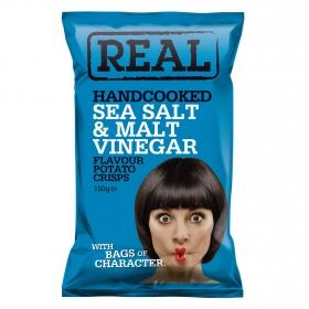 Patatas fritas sabor sal marina y vinagre Real 150 g.