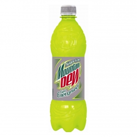Refresco Mountain Dew sin azúcar sin gas botella 50 cl.