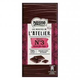 Chocolate negro floral 78% Nestlé 100 g.