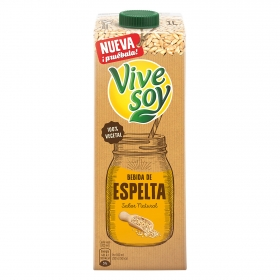 Bebida de espelta sabor natural ViveSoy brik 1 l.