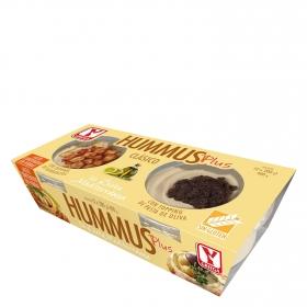 Hummus Plus clásico con pasta de oliva sin gluten