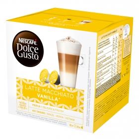 Café latte macchiato vainilla en cápsulas Nescafé Dolce Gusto 8 unidades de 23,55 g.