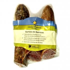 Lote Embutidos ibéricos de cebo Carrefour Calidad y Origen (3x275g) estuche 825 g