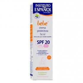 Crema protectora facial recién nacido SPF 20 pieles sensible y atópicas Instituto Español 75 ml.