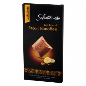 Chocolate con leche relleno de platano