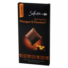 Chocolate negro relleno de mango