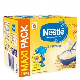 Papilla infantil desde 6 meses de 8 cereales sin azúcar añadido Nestlé 2400 g.