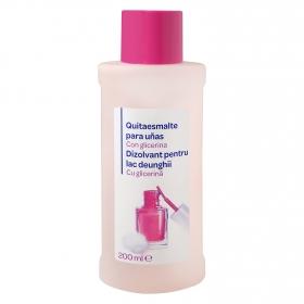 Quitaesmalte para uñas con glicerina Producto blanco 200 ml.