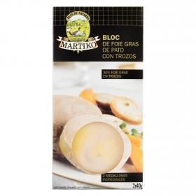 Bloc de foie gras de pato con trozos