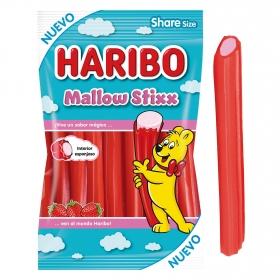 Regaliz de goma Mallow Stixx Haribo 175 g.