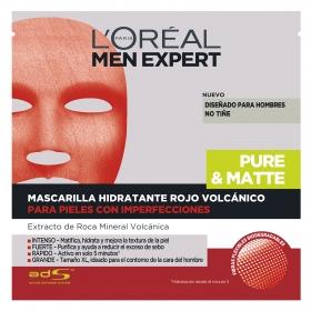 Mascarilla facial hidratante masculina Rojo volcánico L'Oréal-Men Expert 1 ud.