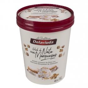 Helado de nata con marquesas de almendra Delaviuda 340 g.