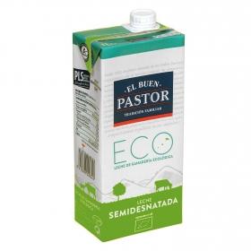 Leche semidesnatada ecológica El Buen Pastor brik 1 l.
