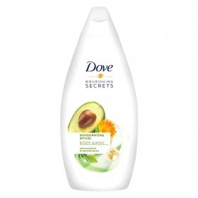 Gel de ducha con aceite de aguacate y extracto de caléndula Dove 500 ml.