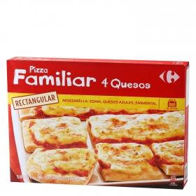 Pizza familiar rectangular 4 quesos