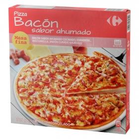 Pizza de bacón masa fina Carrefour 315 g.