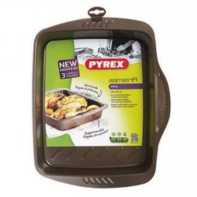 Fuente Rectangular PYREX 30X24 cm  - Negro