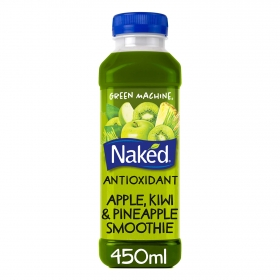 Smoothie de manzana, kiwi y piña Naked botella 45 cl..