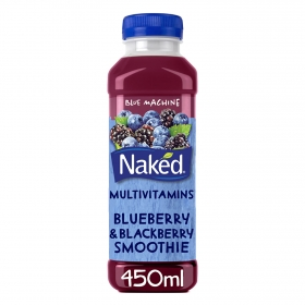 Smoothie de mora y arándanos Naked botella 45 cl.